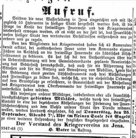 Jenaische Zeitung, JenaWasser