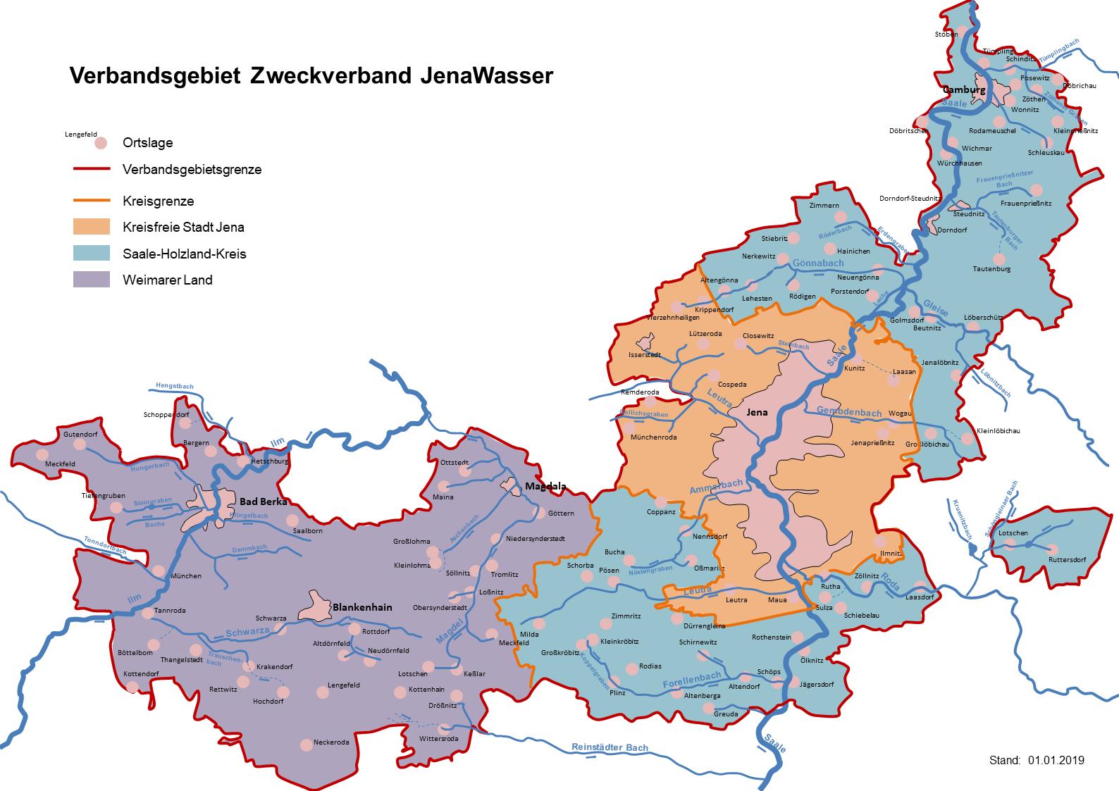 Verbandsgebiet, JenaWasser