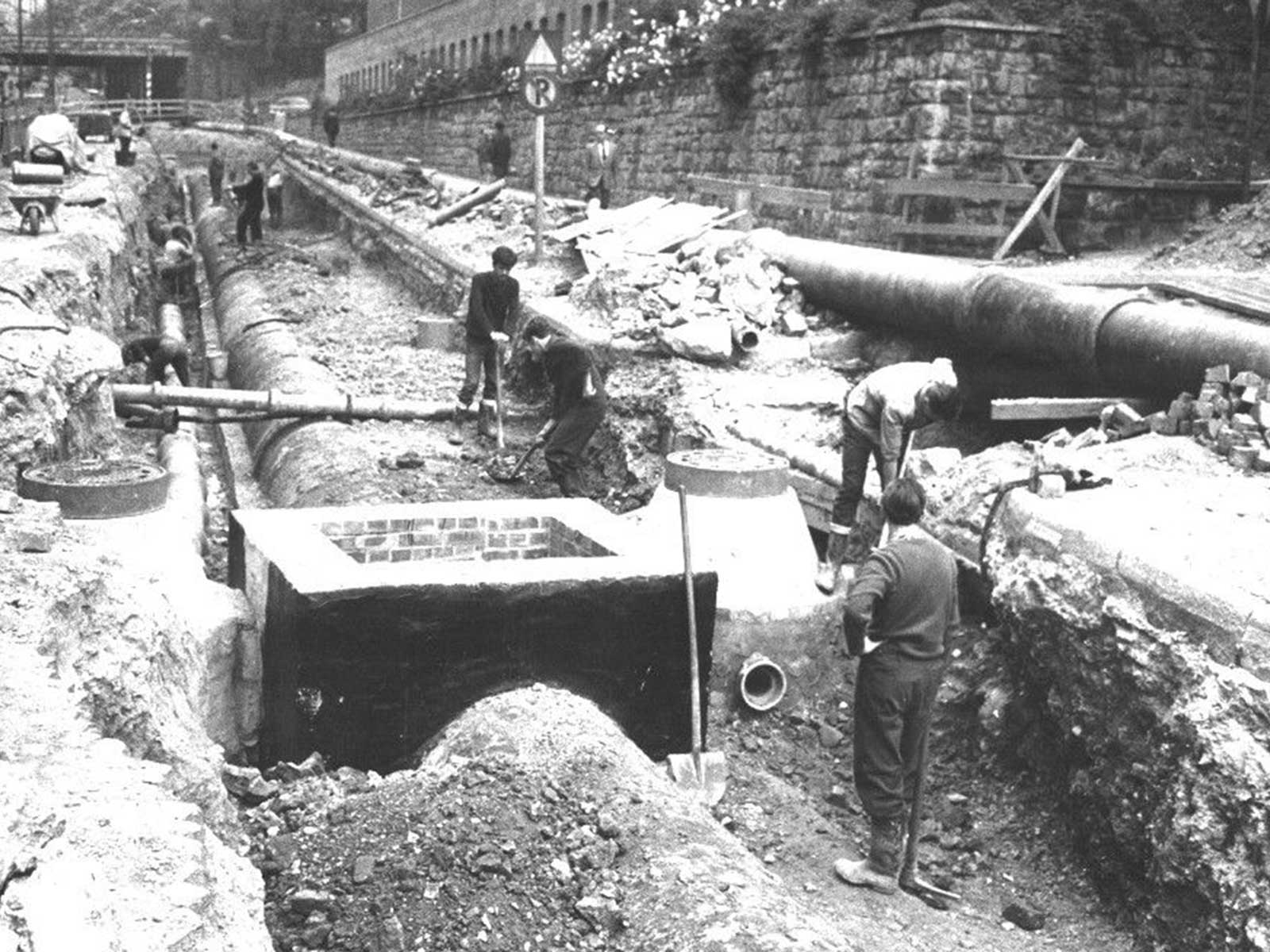 Von der Holzleitung zum Hochdrucknetz: Wir werfen einen Blick in die Geschichte der Wasserversorgung.