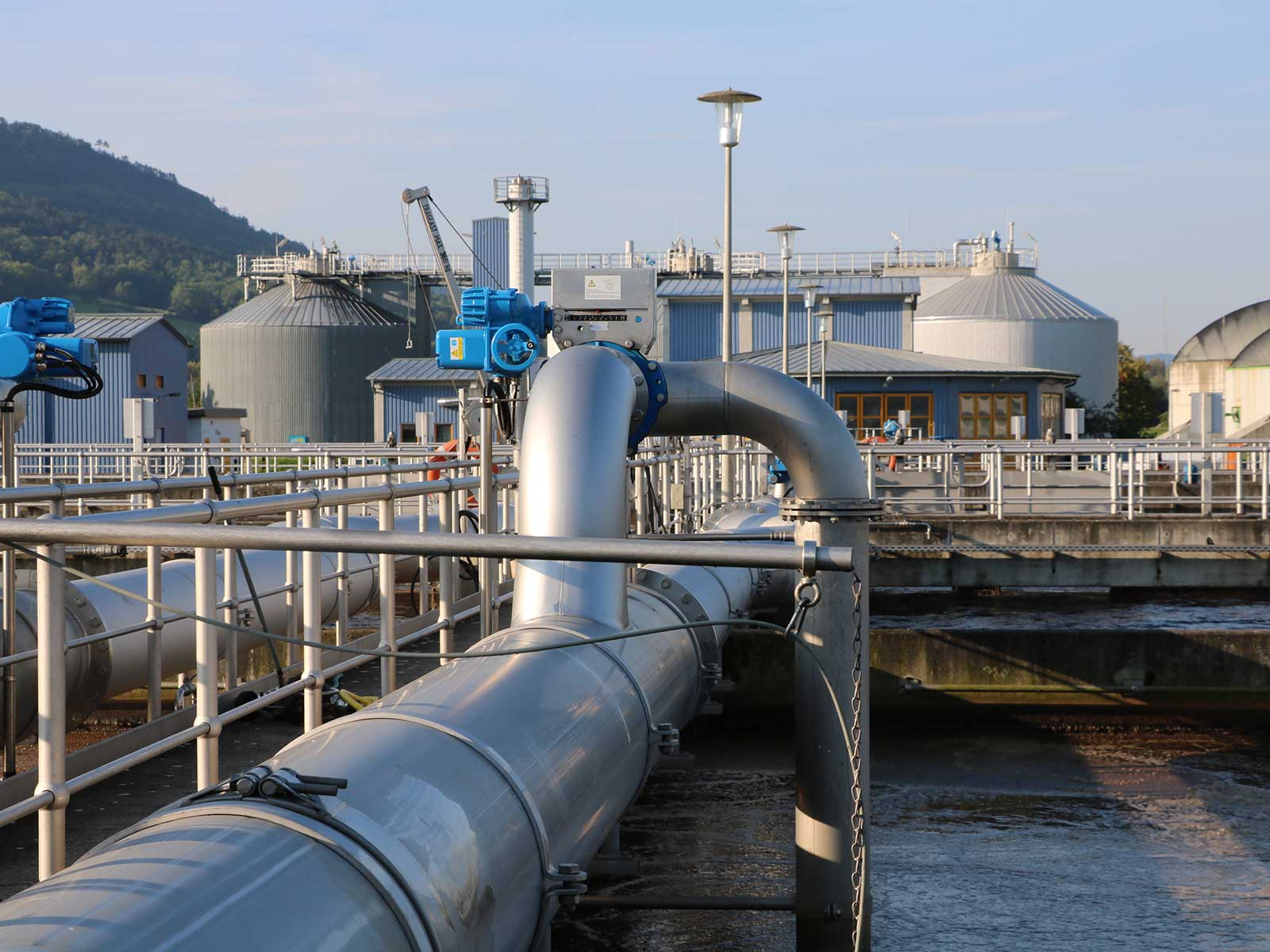 Unsere größte und modernste Anlage: Die Kläranlage Jena mit einer Reinigungskapazität von 210.000 EW.